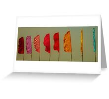 Blustery Flags Greeting Card