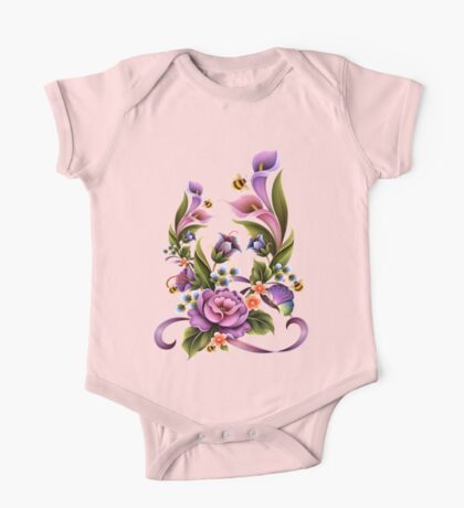 Enchanted Flowers  One Piece - Short Sleeve