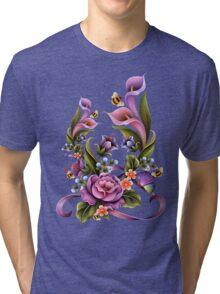 Enchanted Flowers  Tri-blend T-Shirt