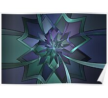 Pointy Petals Poster