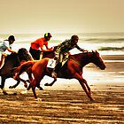 """The Race Is On..18th Running Of The Karekare Beach Races"" by Bruce Jones"