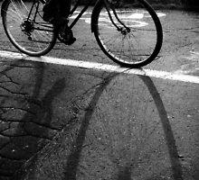 cycling shadow by AdelinaKrupski