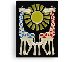 Cheeky Giraffes  Canvas Print