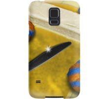 Melted Margerine and Three Blue Stiped Biscuits Samsung Galaxy Case/Skin