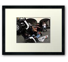 quad bikers Framed Print