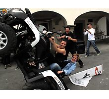 quad bikers Photographic Print