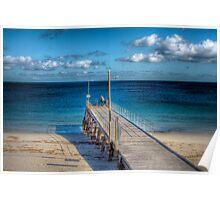 Lone Fisherman - Normanville Jetty, Fleurieu Peninsula, SA Poster