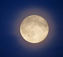 Full Moon with Halo by Deb Vincent