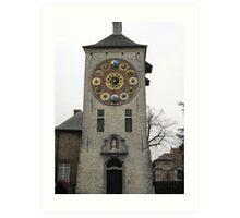 Clock Tower in Lier, Belgium Art Print