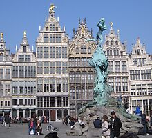 The Brabo Fountain in the Grote Markt by Patricia127