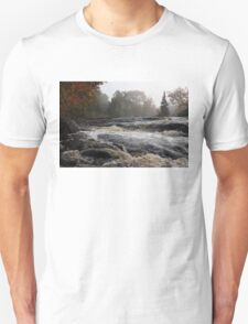 Whiskey River - Foggy Fall Waterscape T-Shirt