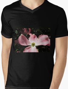 "Pink ""Dogwood"" or ""Cornus"" Mens V-Neck T-Shirt"