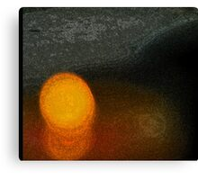 Candle Abstract Canvas Print