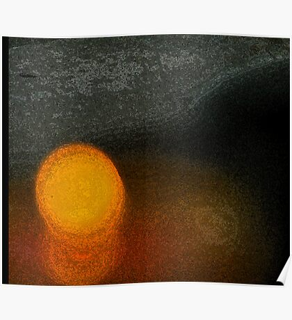 Candle Abstract Poster