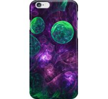 abstract space colorful background with bubbles iPhone Case/Skin