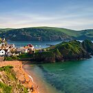 Hope Cove, Devon, England by Giles Clare