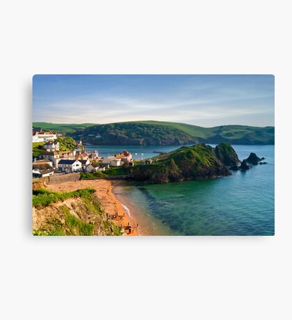 Hope Cove, Devon, England Canvas Print