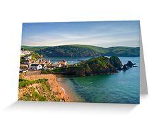 Hope Cove, Devon, England Greeting Card
