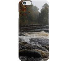 Whiskey River - Foggy Fall Waterscape iPhone Case/Skin