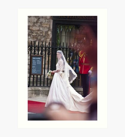 Kate Middleton Arrives Art Print