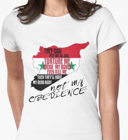 SYRIA DISOBEDIENCE  Womens Fitted T-Shirt