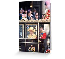 The Queen's Carriage Greeting Card