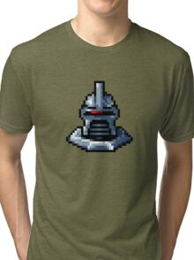 Pixel Cylon with collar Tri-blend T-Shirt
