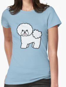 Bichon Frise Cartoon Dog Illustration T-Shirt