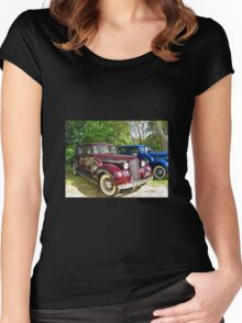Packard #1 - 1939 Maroon  Women's Fitted Scoop T-Shirt