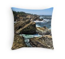 Oregon Coast At Shore Acres Throw Pillow
