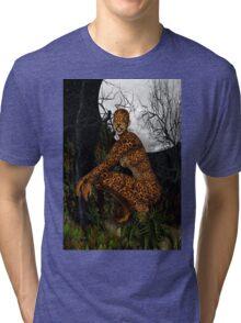 The Jungle Cat .. Fantasy Tri-blend T-Shirt