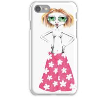 Peach - Big Panted Girl iPhone Case/Skin