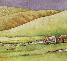 Horses in the Camel Neck Valley by Andrea Gabriel