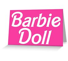 Barbie Doll Greeting Card