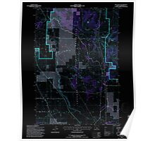 USGS Topo Map Oregon Buck Butte 279169 1992 24000 Inverted Poster