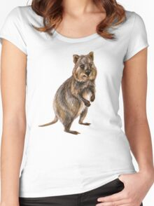 Cute little quokka Women's Fitted Scoop T-Shirt