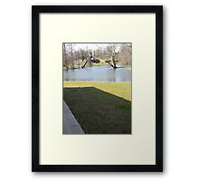 Rectangle Shadow  Framed Print