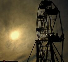 Evening ride on the ferris wheel by larry flewers