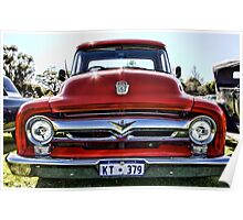 Ford F100 Pick Up Truck Poster