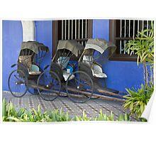 Old Rickshaws - Penang Poster