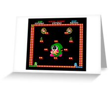 Bubble Bobble #01 Greeting Card