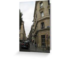 Walking Along the Rue - Paris Greeting Card