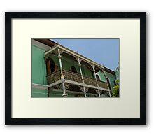 Balcony - Penang Framed Print