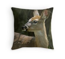 Young Doe Ever Watchful Throw Pillow