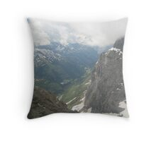 Under the Clouds - Titlis, CH Throw Pillow