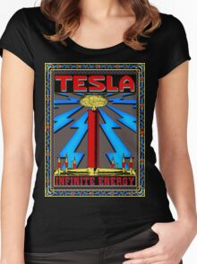 TESLA COIL - INFINITE ENERGY Women's Fitted Scoop T-Shirt