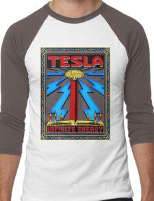 TESLA COIL - INFINITE ENERGY Men's Baseball ¾ T-Shirt