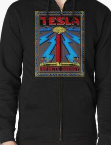 TESLA COIL - INFINITE ENERGY Zipped Hoodie