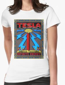 TESLA COIL - INFINITE ENERGY Womens Fitted T-Shirt