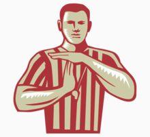 Basketball Referee Technical Foul Retro by patrimonio
